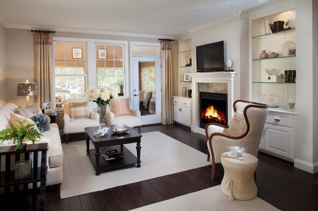Fireplace decorating ideas for your new retirement home on for Cape cod living room design