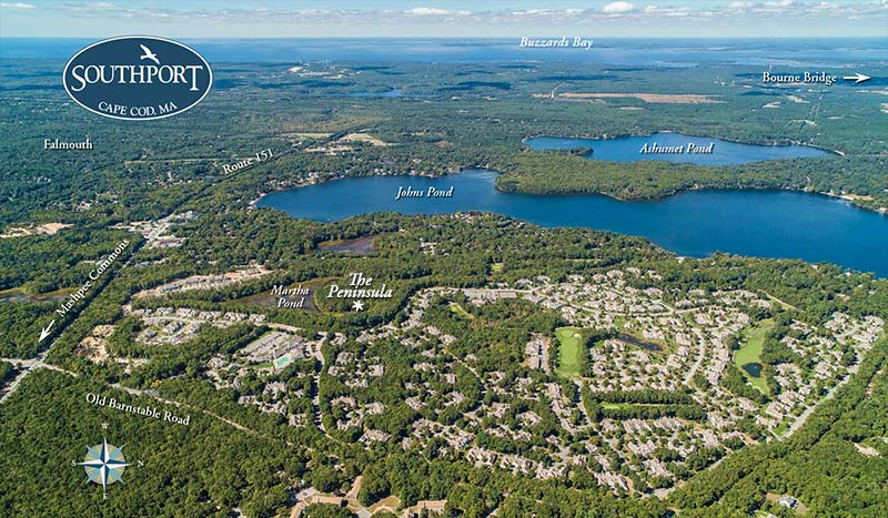 Aerial Photo of Southport - 55 and Over Communities in MA